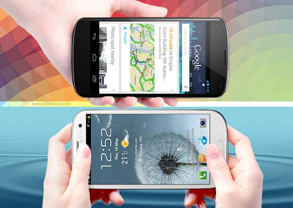 Google Nexus 4 vs. Samsung Galaxy S III